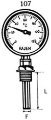 Bimetal Dial Vertical Thermometers in  Mogul Lane-Mahim (W)