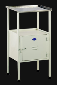 Simple Bedside Locker With Stainless Steel Top