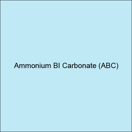 Ammonium BI Carbonate (ABC)