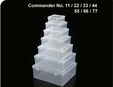 Commander Transparent Containers