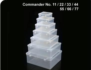 Commander Transparent Containers