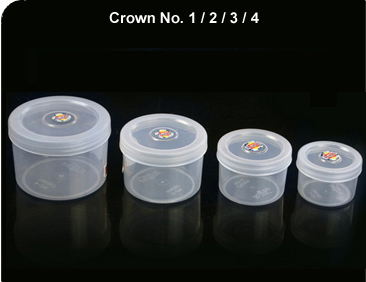Crown Transparent Containers