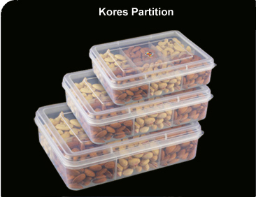 Kores Partition Transparent Containers