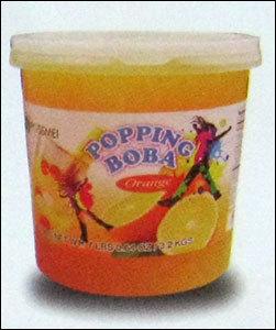 Orange Popping Boba
