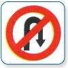 U-Turn Prohibited Signs in  Kathwada