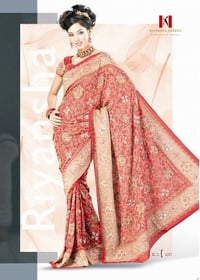 Fully Embroidered Wedding Sarees