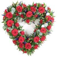Heart Arrangement Flower Bunch