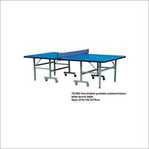 TB-983 One-Folded Portable Outdoor/Indoor Table Tennis Table