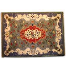 Floral Printed Multi Woollen Rug