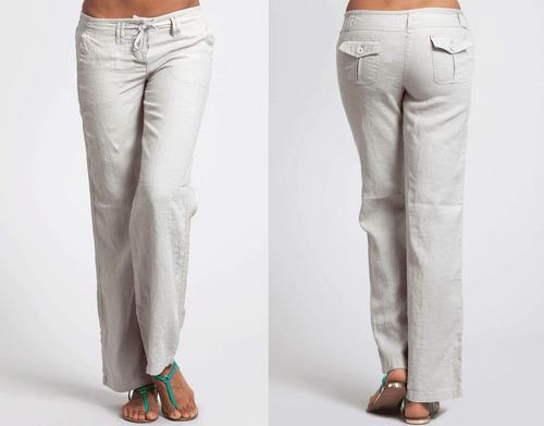 White Women Classic Straight Cut Trousers