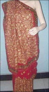 Wedding Heavy Jaal Saree
