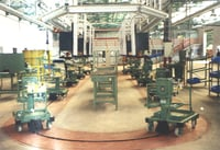 Floor Conveyor For Gearbox Assembly Line With Trolley