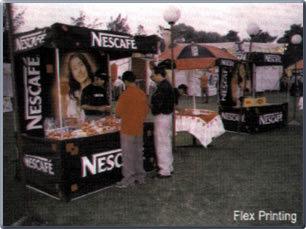 Flex Printed Demo Tents