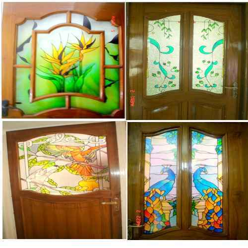 Flower Stained Glass Doors At Best Price In Delhi Delhi
