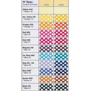 """Reactive """"H"""" Brand Dyes"""