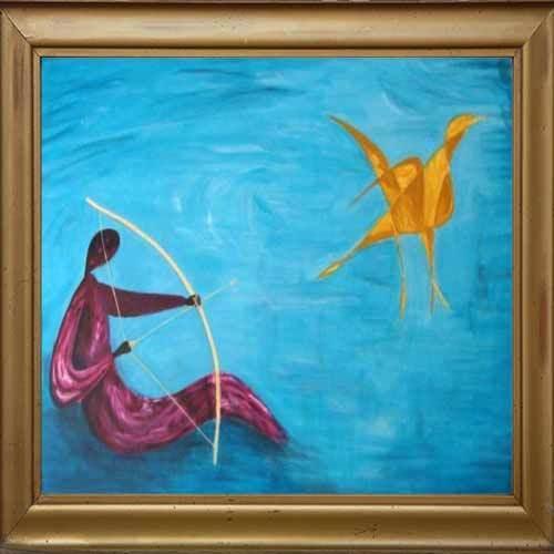 Hunter And Bird Paintings