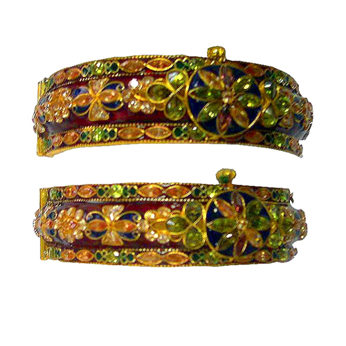 Stone Studded Gold Bangles in  Chandni Chowk