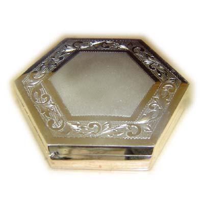 Hexagonal Silver Boxes