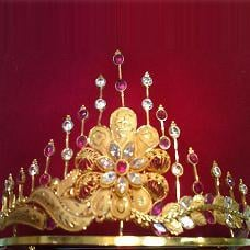 Stone Studded Gold Crown