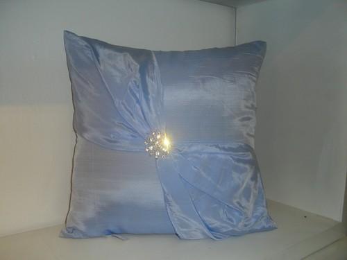 Silk Cushion Cover In Blue