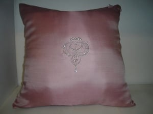 Square Cushion Cover In Light Pink
