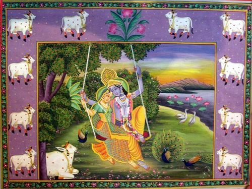 Designer Radha Krishna Paintings
