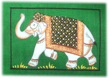 Elephant Paintings On Silk