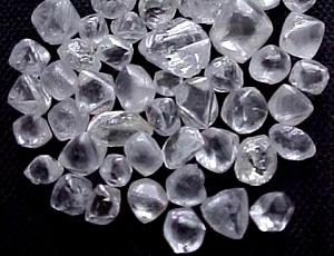 Images of unpolished diamonds