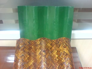 Bamboo Mat Corrugated Roofing Sheets