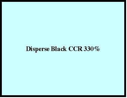 Disperse Black Ccr 330%