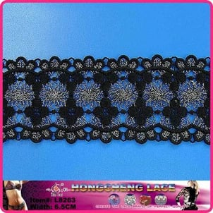Polyester Water Soluble Clothing Garment Lace