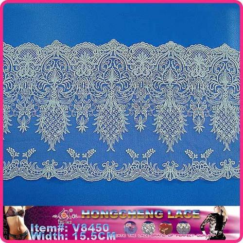 White Cotton Apparel Embroidery Cotton Lace