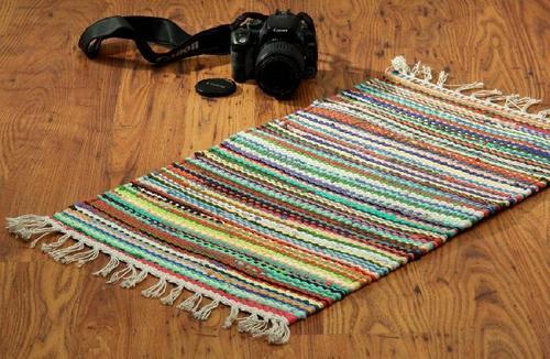 Multicolor Stripped Floor Mats