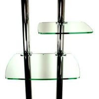 Glass Shelf With Trolley