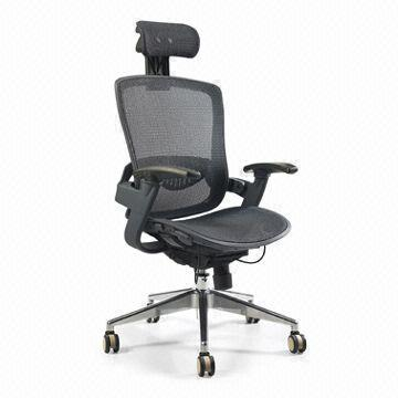 Office Chair With Synchro Mechanism And Comfortable Pp Lumber Support