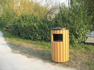 WPC Park Bin Single Inner Container