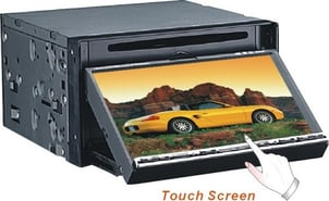 7-Inch 2-Din In Dash TFT LCD Monitor With DVD Player