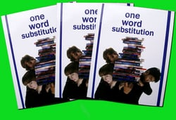 Student One Word Substitution Book
