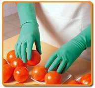 Unlined Industrial Nitrile Gloves