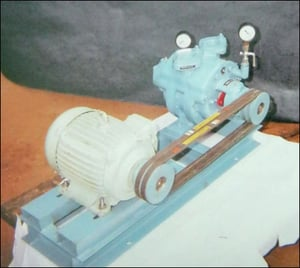 Vacuum Pump Fitted With Pulley