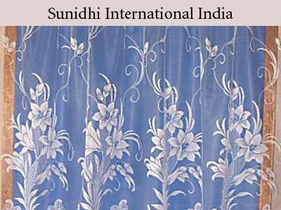 Floral Design Net Curtains