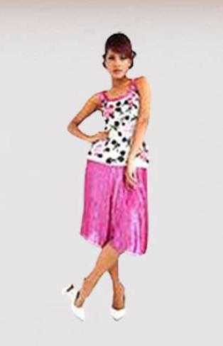 Ladies Top Skirt Sets in  63-Sector