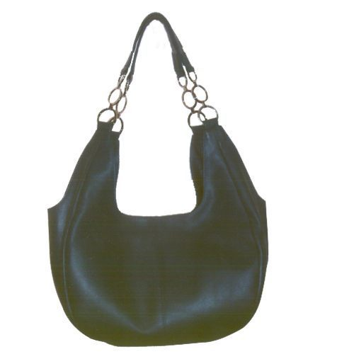 Black Finished Leather Bags