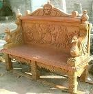 ARTS650 Carved Marble Bench