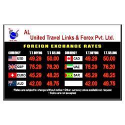 Electronic Foreign Exchange Display
