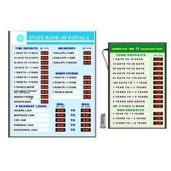 Electronic Interest Rate Display