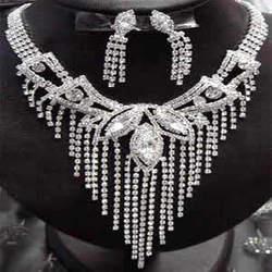 American Diamond Studded Gold Necklace