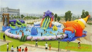 Giant Inflatable Water Amusement Park