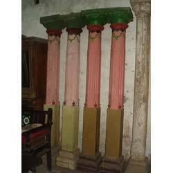 Wooden Pillars In Ahmedabad Gujarat India Gajjar Handicrafts