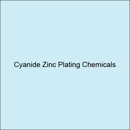 Cyanide Zinc Plating Chemicals